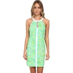 Lilly Pulitzer Pear Shift Dress in Green Parrot